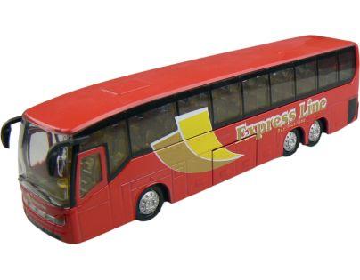 Alltoys Teamsterz městský autobus 1:50 - Červená