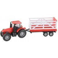 Teamsterz Traktor s valníkem - Červený traktor s valníkem