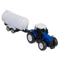 Teamsterz Traktor s valníkem - Modrý traktor s cisternou