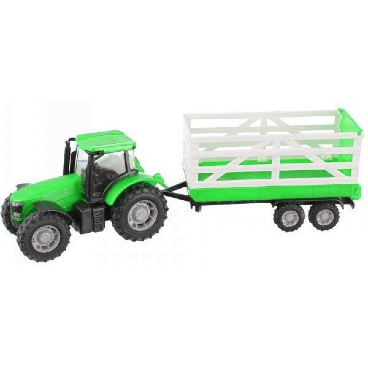 Teamsterz Traktor s valníkem - Zelený traktor s valníkem Alltoys