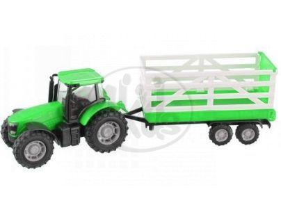 Teamsterz Traktor s valníkem - Zelený traktor s valníkem