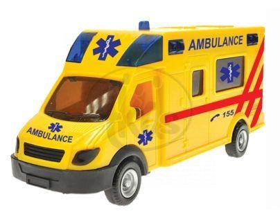 Mikro 1204C216 - Ambulance (18cm) na zpětné natažení se zvukem a světlem