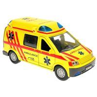 Kids GLOBE CT-1106CZ - Ambulance kov 14cm se světlem a zvukem