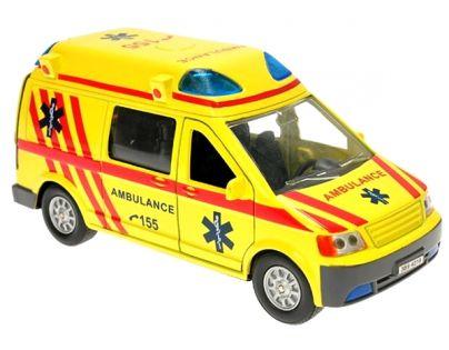 Kids Globe Ambulance kov 14 cm se světlem a zvukem