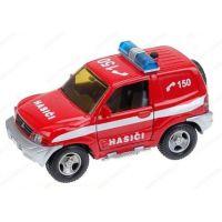 Kids Globe Auto Mitshubishi hasiči kovové 12 cm Na zpětné natažení se zvukem se světlem