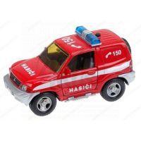MIKRO 22055 - Auto Mitshubishi hasiči kov 12cm na zpětné natažení se zvukem se světlem