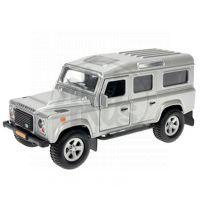 Kids GLOBE 510752 - Auto Land Rover kov na zpětné natažení se zvuky a světly (černý)
