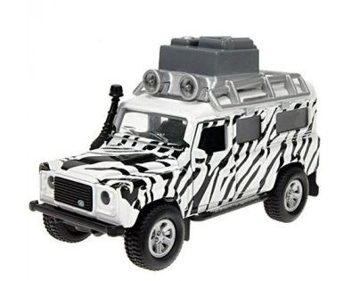 Kids Globe Auto Land Rover Safari kov na zpětné natažení se zvuky a světly