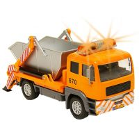 Kids Globe Auto nákladní a kontejner se světlem a zvukem 14 cm