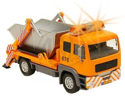 Kids GLOBE 510704 - Auto nákladní kontejner se světlem a zvukem 14 cm