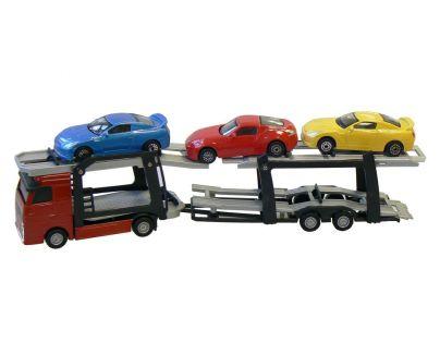 Auto přepravník + 3 auta 1:60 27cm
