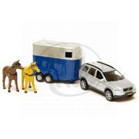 Kids GLOBE 521631 - Volvo XC90 kov s přívěsem pro koně
