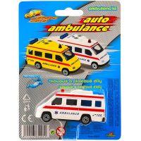 Auto ambulance kov 7 cm Bílá