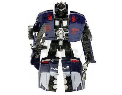 Teddies 00070151- Transformer - auto policie s doplňky, 16cm