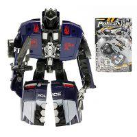 Teddies 00070151- Transformer - auto policie s doplňky, 16cm 2