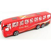 Autobus plast 36 cm na setrvačník Červený