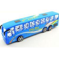 Autobus plast 36 cm na setrvačník Modrý