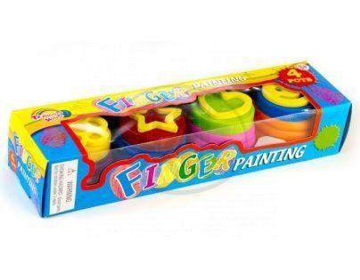 Barvy prstové 4ks v krabičce