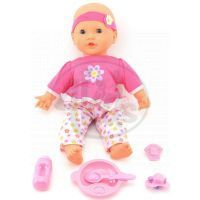 Dýchající panenka s doplňky - Růžové kalhoty
