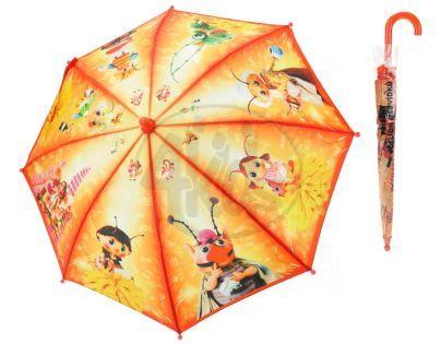 MIKRO 26508 - Deštník Příběhy včelích medvídků - oranžový 56cm
