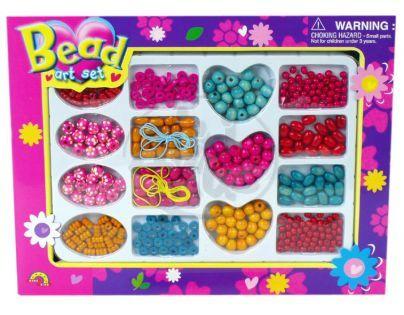 Teddies 300011 - Dřevěné korálky v krabici