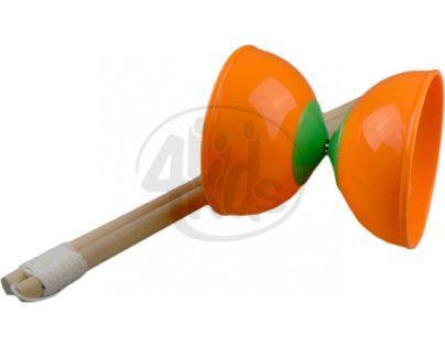 Diabolo 2 tyčky - Oranžová