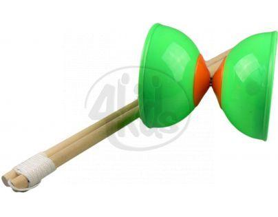 Diabolo 2 tyčky - Zelená