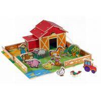 MIKRO 24206 - Domeček dřevěná farma se zvířátky