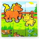 Teddies 00512012 - Kostky kubus Moje první zvířátka 9ks dřevěné 2