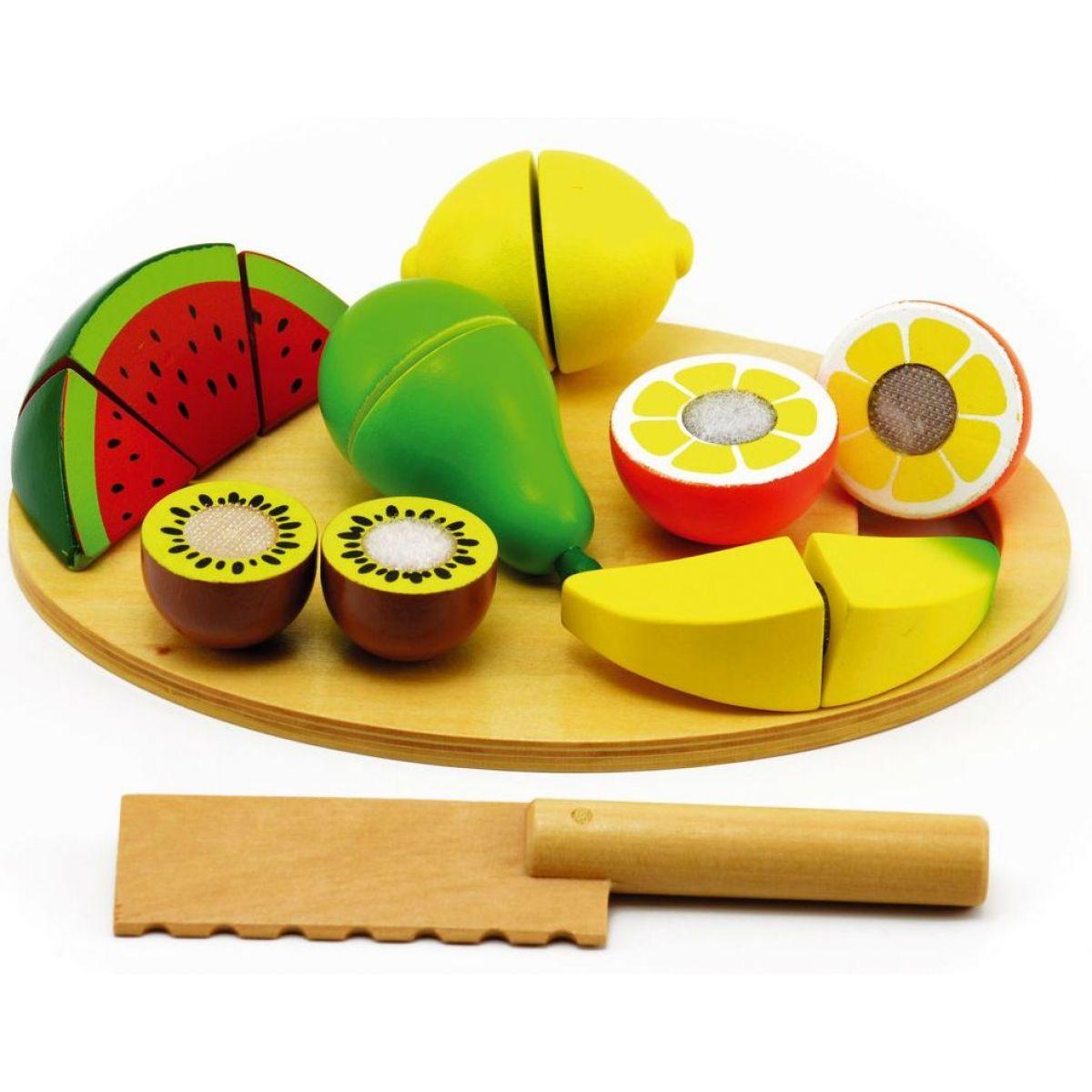 Teddies Ovoce krájecí s prkénkem dřevěné