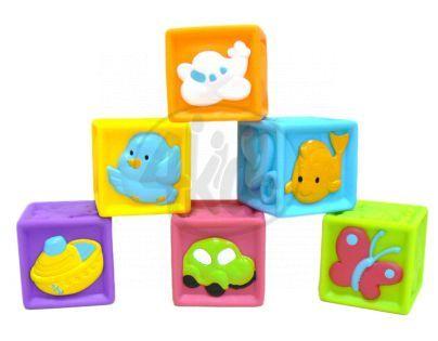 Redbox 23305 - Dětské pískací kostky 6ks