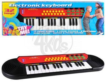 EDDY-TOYS 50746 - Piánko 51cm 32 kláves na baterie