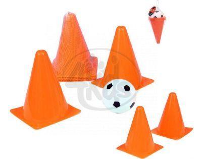 Teddies Fotbalové kužely s míčkem v síťce