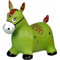 Teddies hopsadlo zvířátko nafukovací gumové Zelená
