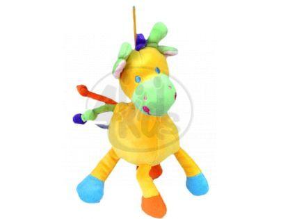 Teddies Žirafa chrastítko plyš - Žlutá