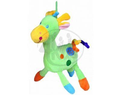 Teddies Žirafa chrastítko plyš - Zelená