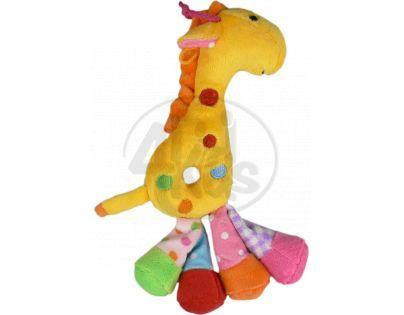 Žirafa chrastítko plyš 25 cm - Žlutá
