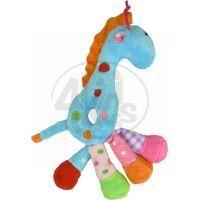 Žirafa chrastítko plyš 25 cm - Modrá