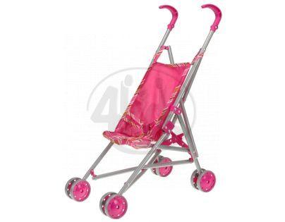 MIKRO 00047159 - Kočárek Stroller - golfové hole růžový kovový 25x37x53cm v sáčku
