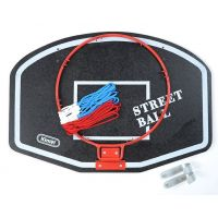 Koš na basketbal 60 x 42 cm Bílý nápis Street Ball
