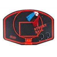 Koš na basketbal 60 x 42 cm Červený nápis Street Ball