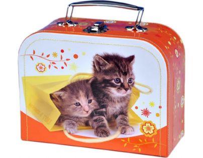 Kufřík šitý Koťata 20 cm
