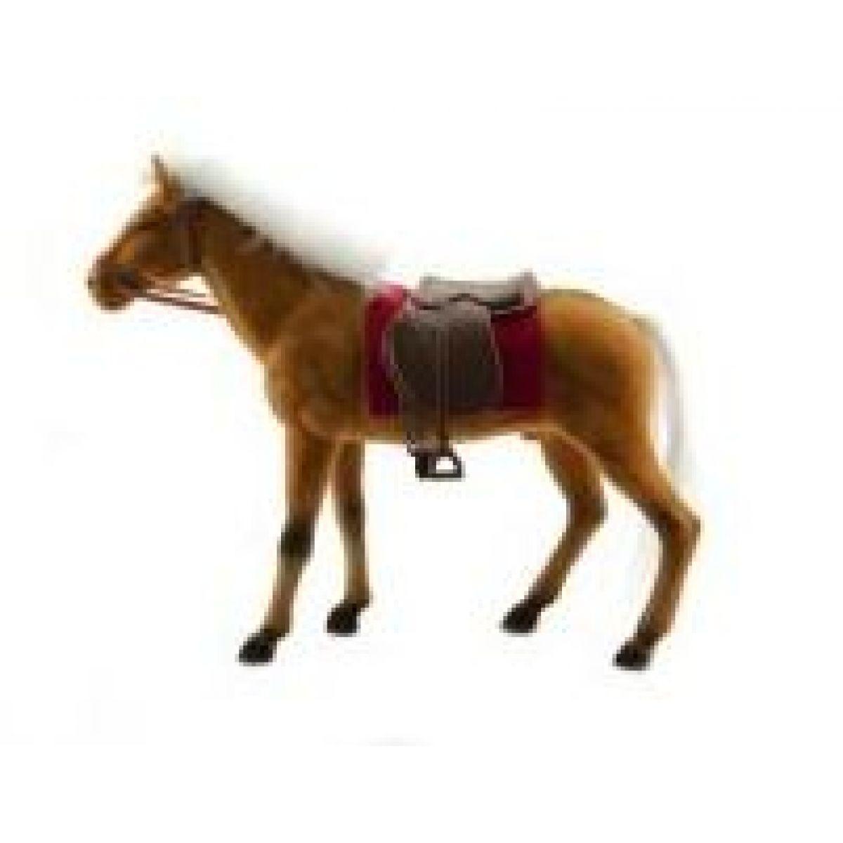 Teddies Kůň fliška 30 cm Bílá hříva-hnědý kůň - Černá hříva-hnědý kůň