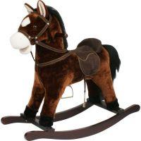 Teddies Kůň houpací tmavě hnědý