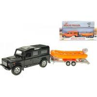 Land Rover Defender kov 14 cm se člunem 12 cm