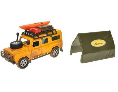 Kids Globe Auto Land Rover Defender kov Se stanem na zpětné natažení v krabičce