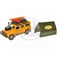 MIKRO 521724 - Auto Land Rover Defender kov 14cm se stanem na zpětné natažení v krabičce