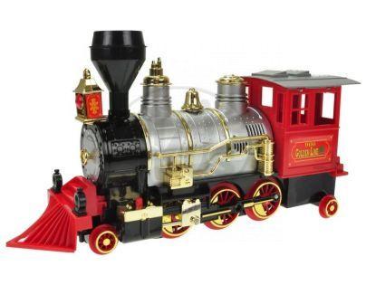 Lokomotiva narážecí se zvukem a světlem - Červená