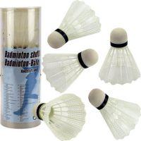 Míčky na badminton bílé plast 5 ks v tubě