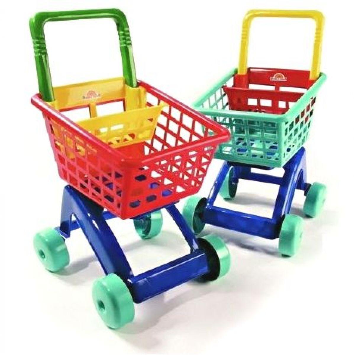 Teddies DOHANY nákupní košík červený - Červená
